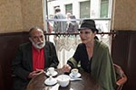 Bolivia;Bolivian;South_America;Latin_America;Estado_Plurinacional_de_Bolivia;cafés;cafés;couple;foods;man;men;people;Bolivians;persons;woman;women;Cochabamba;Couple;café