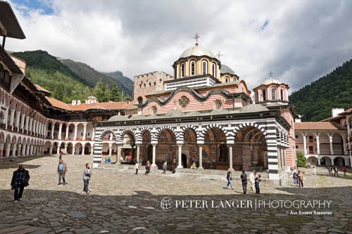 Bulgaria;Bulgarian;Balkans;Europe; Eastern Europe;Europa;Architecture;Art;Art history;beliefs;Byzantine;Christian;Christianity;creed;Eastern Orthodox;faith;Neo-Byzantine;religion;UNESCO;World Heritage Site;Rila Monastery;Blagoevgrad;Church of the Nativity of the Virgin;church