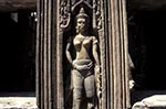 Cambodia;Cambodian;Kampuchea;Asia;Southeast_Asia;_Ancient;Anthropology;Archaeology;Architecture;Art;Art_history;Civilization;Culture;History;Indochina;Khmer;Khmer_Empire;Sculpture;UNESCO;World_Heritage_Site;Angkor;Siem_Reap;Apsara;bas_relief;wall;Hall;Dancing;Girls;Banteay_Kdei