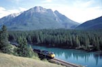 Canada;Canadian;North_America;Rocky_Mountains;Rockies;public_transportation;railroads;railways;trains;UNESCO;World_Heritage_Site;Banff;National_Park;Alberta;CN;Bow_River