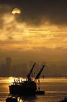 Canada;Canadian;North_America;British_Columbia;Burrard_Inlet;skyline;sunset;Vancouver;Vancouver