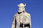 Canada;Canadian;North_America;Prairies;statue;monument;sculpture;art;Gimli;Manitoba;Viking;warrior