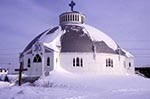Canada;Canadian;North_America;Arctic;Inuvik;North_West_Territories;Northwest_Territories;winter;Our_Lady_of_Victory;Church