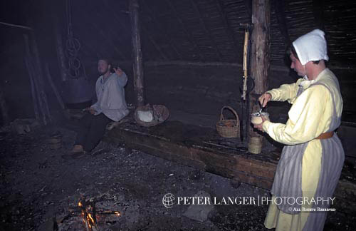 Canada;Canadian;North America;Art;Art history;attires;clothes;clothing;costume;dress;female;garments;Maritimes;Medieval;Norsemen;outfits;people;Canadians;person;UNESCO;Vikings;woman;woman;women;female;person;people;Canadians;women;World Heritage Site;L'Anse aux Meadows;National Historic Site;Newfoundland;Viking sod house