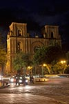 Ecuador;Ecuadorian;South_America;Latin_America;Architecture;Art;Art_history;Christianity;Christian;Catholic;religion;faith;beliefs;creed;Spanish_Colonial;UNESCO;World_Heritage_Site;Cuenca;Azuay;Iglesia_de_El_Sagrario;Catedral_Vieja;Old_Cathedral;church;night