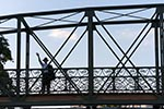 France;French;Europe;Europa;bridge;Grande_Ile;Ill;Man;man;men;male;person;people;river;Strasbourg;UNESCO;World_Heritage_Site