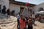 Guatemala;Guatemalan;beliefs;Catholic;Central_America;ceremonies;ceremony;Christianity;Christian;creed;faith;Latin_America;Maya_Culture;Mayan;Maya;New_Granada;persons;people;Guatemalans;processions;Quiche;Quiche;religion;rites;rituals;sacraments;Spanish_Colonial;syncretism;Chichicastenango;El_Quiche;Easter_Sunday;Easter_comrades;council;men;andas;floats;saints;procession;Santo_Tomas;Church