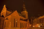Latvia;Latvian;Riga;Latvijas;Europe;Europa;Architecture;Art;Art_history;Baltic;beliefs;Christianity;Christian;creed;faith;Gothic;Lutheran;Medieval;religion;UNESCO;World_Heritage_Site;Cathedral;night
