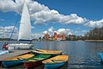 Lithuania;Lithuanian;Europe;Europa;Lietuvos;_Baltic;Sail;boats;Galve;Lake;Island_Castle;Trakai