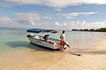 Mauritius;Maurice;Mauritian;Africa;beach;Indian_Ocean;islands;male;man;men;Mont_Choisy;people;Mauritians;person;persons;Tour_boat;tropical;Maurice