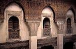Morocco;Moroccan;Africa;Architecture;Art;Art_history_Islamic;_Muslim;UNESCO;World_Heritage_Site;Fez;Fes;_Balconies;around;courtyard;Medersa;Bou_Inania