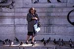 Portugal;Portuguese;Europe;Europa;birds;fauna;female;Lisbon;Lisboa;ornithology;people;person;persons;pigeons;Rossio;Square;woman;Woman;women;animals