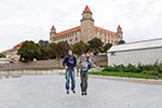 Slovakia;Slovakian;Slovak;Europe;Eastern_Europe;Europa;Art;Art_history;Bratislava;Bratislava_Castle;castles;fortresses;forts;jumping;male;man;Medieval;men;Middle_Ages;people;Slovaks;person;Tourists;Architecture