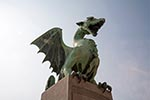 Slovenia;Slovene;Slovenian;Europe;Eastern_Europe;Europa;Art_history;Art_Noveau;Jugendstil;Modern_architecture;Modern_art;Sculpture;Yugoslavia;Art;Ljubljana;Dragon_sculpture;Dragon_Bridge