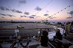 Americans;boats;cruise_ships;cruising;holidays;liner;marine;North_America;tourism;transportation;travel;USA;United_States_of_America;USA;vacations;vessels;Skyline;Fort_Lauderdale;dusk