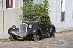 Uruguay;Uruguayan;Latin_America;UNESCO;World_Heritage_Site;Colonia;Old;Renault;car;filled;flowers