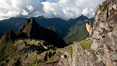 Peter Langer on the way to Machu Picchu